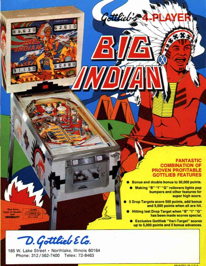 Flyer Big Indian (Gottlieb 1974)