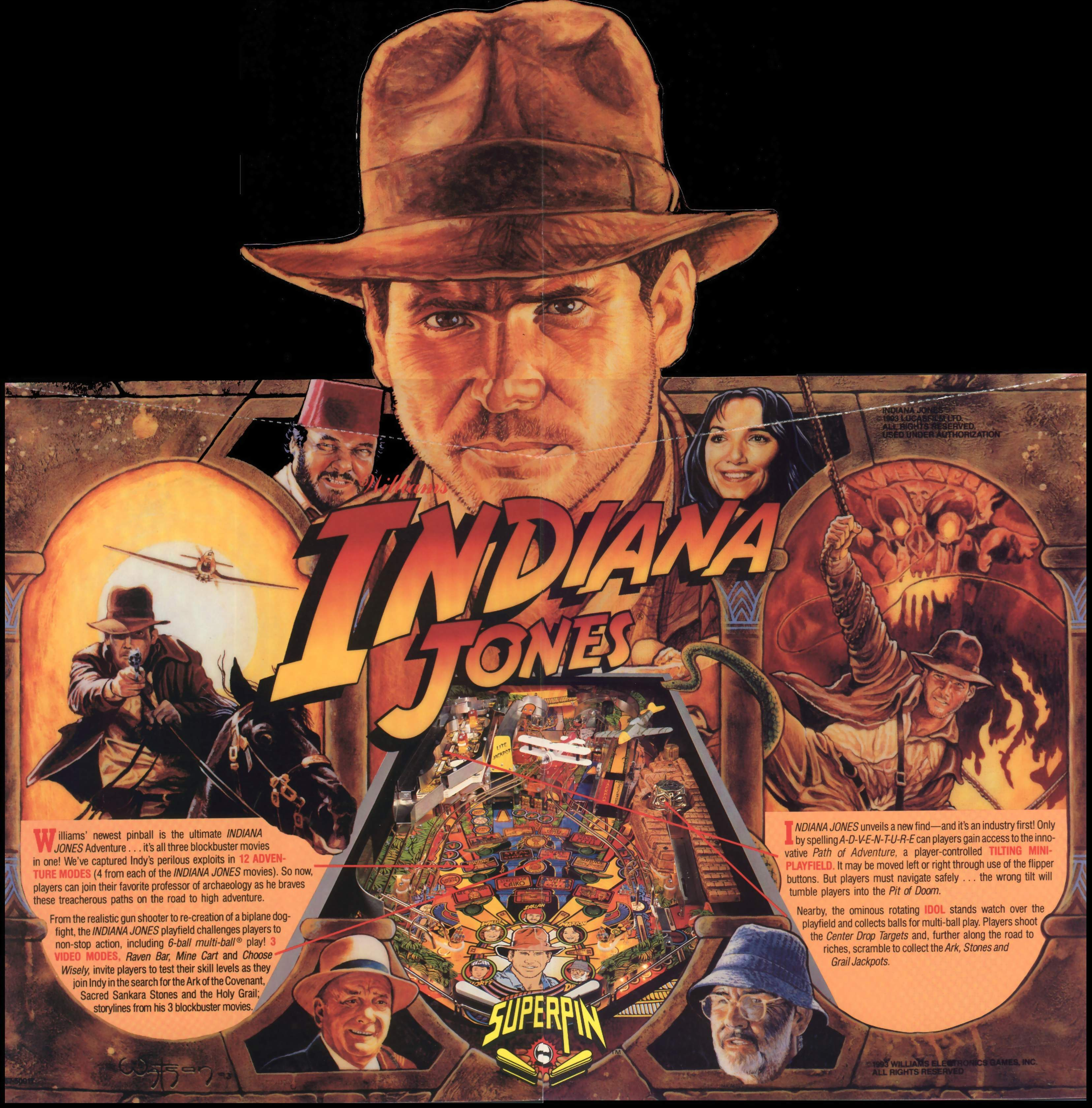 Flyer Indiana Jones USA 2